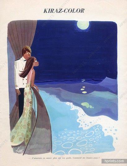 Edmond Kiraz 1970 lovers, sailor, moonlight
