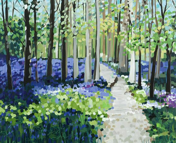 Bluebell Walk by Janet Bell