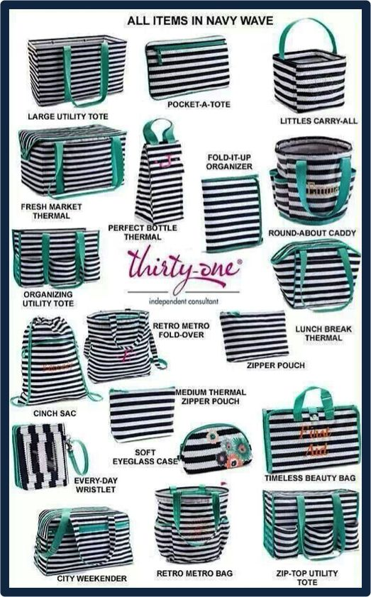 Thirty-One Gifts - LOVE all things in Navy Wave! #ThirtyOneGifts  www.mythirtyone.com/achall
