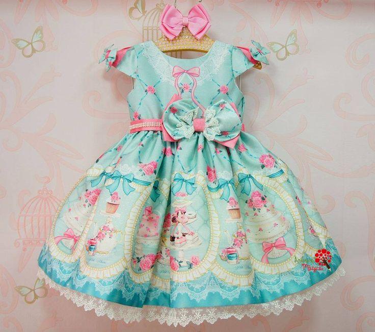 Vestido de Festa Infantil Chá das Princesas Petit Cherie