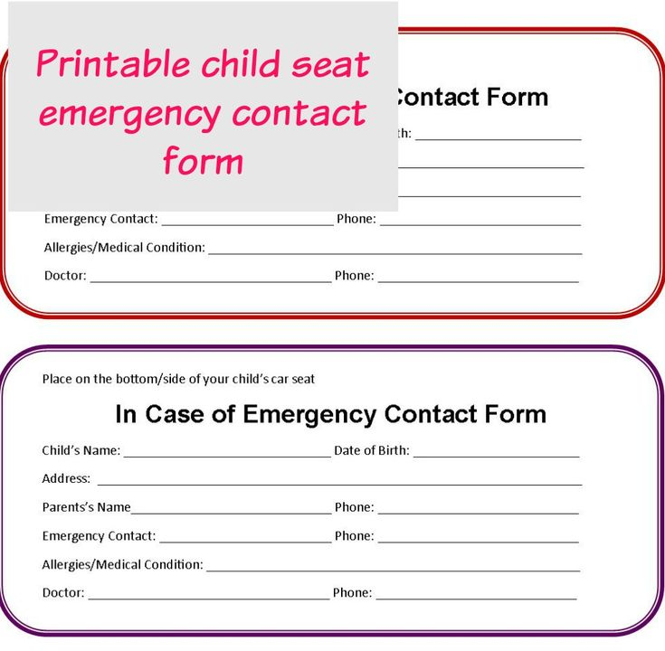 Más de 25 ideas únicas sobre Emergency contact form en Pinterest - emergency contact forms