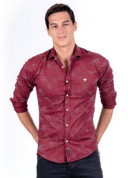 Yeni Sezon Bordo %100 Koton Erkek Gömlek