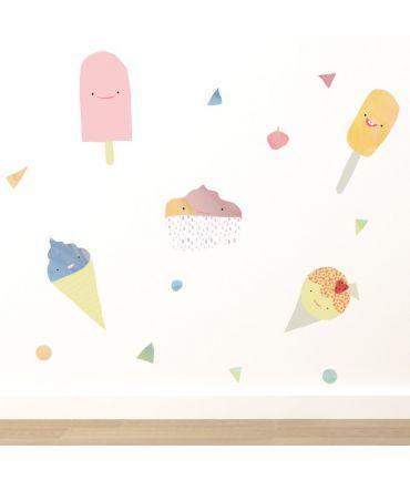 Ice Creams Wall Sticker