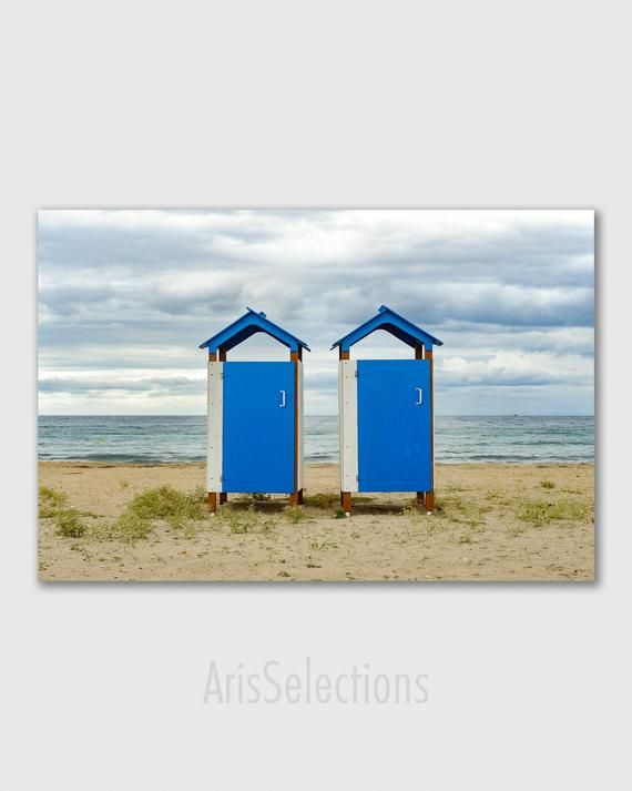 Beach Huts On A Bright Day Canvas Wall Art Art Group In 2019