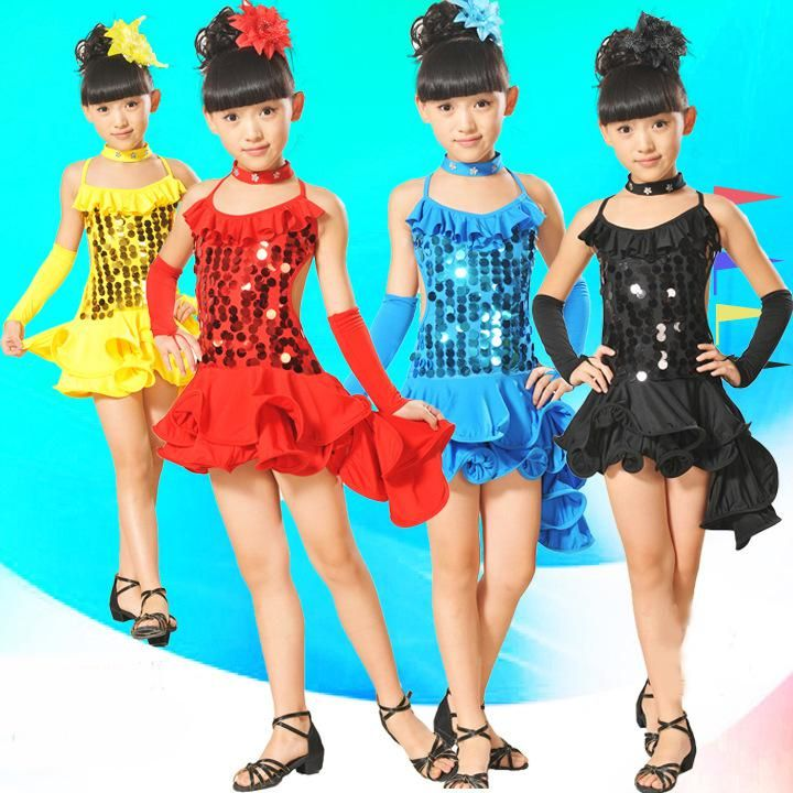 2014 New Girls Dancewear Stage Wear Dance Costumes Modern Latin Dresses Bellet Dance Skirt Suit SF05-06, $19.59 | DHgate.com