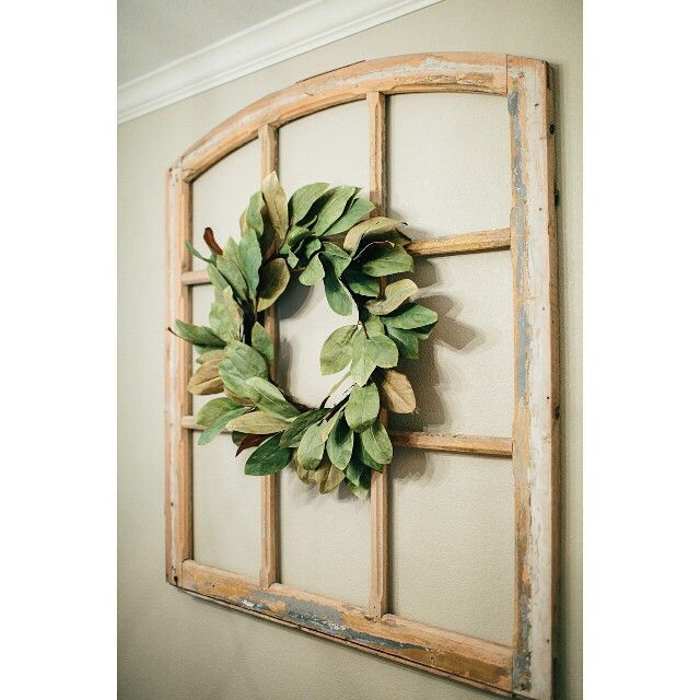 The Signature Magnolia Wreath (made with faux magnolia leaves) featured on last night's episode is perfect year-round for your front door or any blank wall in your home in need of sprucing. Shop link in profile.