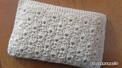 【編み図付き】松編みの大人用ポケティケース