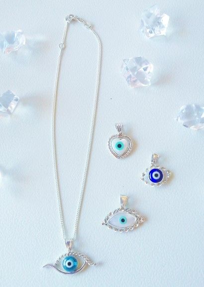 Sterling Silver  Evil Eye Pendants....meaning protection on yourself.  R490-00 ZAR excluding chain.  email: info@babachicboutique.co.za