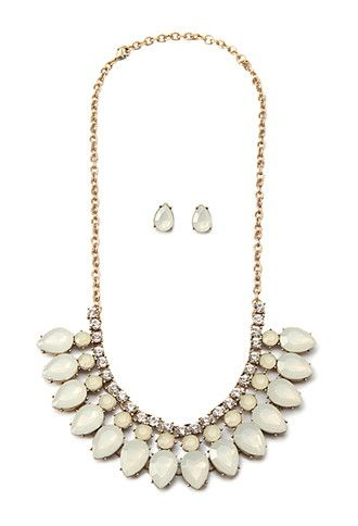 Teardrop Necklace And Stud Set | Forever 21 | #f21accessorize