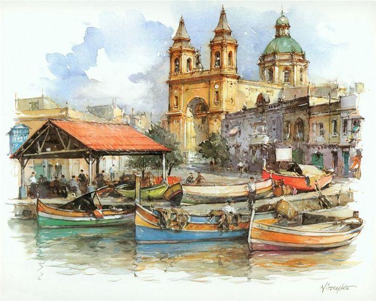 Marsaxlokk-Malta.