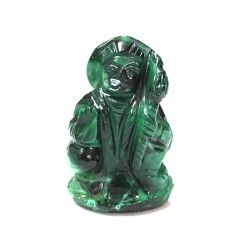 Hanuman Idol in Malachite gemstone, Buy hanuman idol/statue in natural malachite gemstone online