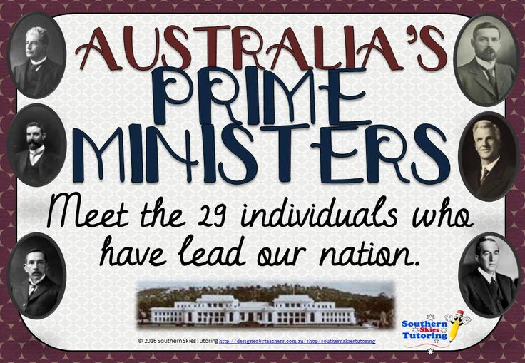 Australia's Prime Ministers Posters are high quality posters (29 in total) that have been designed to compliment the HASS curriculum in Australia. The posters feature the name of the Prime Minister, their date of birth and death (if applicable), the years they served as Prime Minister, the party they lead, a photo and an interesting fact about the Prime Minister.34 pages for $3!