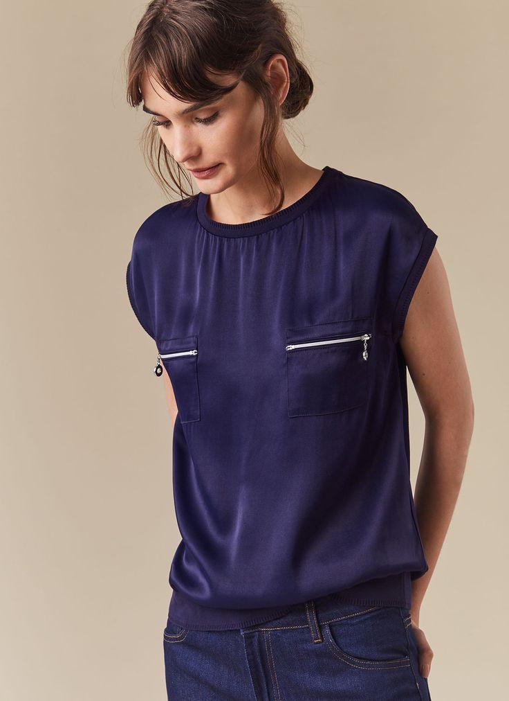 Camiseta con bolsillos - Colección | Adolfo Dominguez shop online