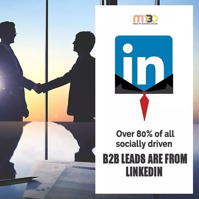 """""""Linkedin has become a perfect synonym for efficient B2B leads and there are facts which advocate it. Read one such fact about Linkedin and try building your business. #linkedin #online #business #businessleads #businessptomotion #promotion #marketing #whysocialmedia #digitalmarketing #whylinkedIn #socialmedia #socialmediamarketing #digitalmarketing #entrepreneur #follow4follow #like4like"""" by @mmbo.in. #biztip #marketinglife #smtips #instagramforbusiness #smallbusinessowner #webmarketing…"""