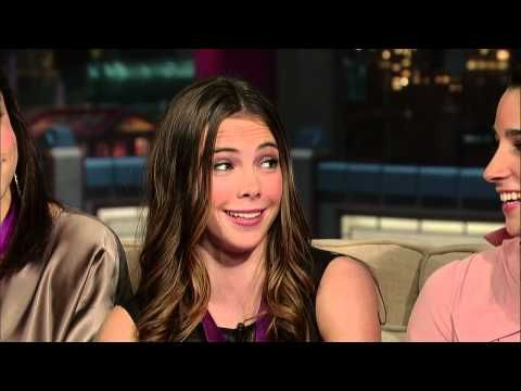 "David Letterman - McKayla Maroney's ""Not Impressed"" Face // McKayla Maroney and her US Olympic Gymnastics teammates recreate her infamous ""not impressed"" face"