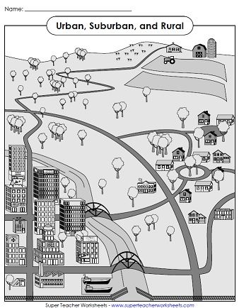 rural community coloring pages - photo#5