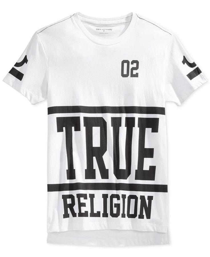 True Religion Men's Starter Graphic-Print Logo T-Shirt