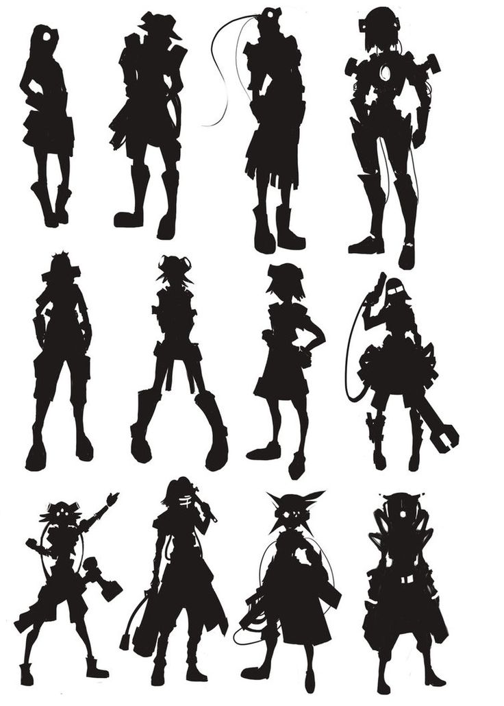 Character Design Silhouette : Silhouette study by robertaraneta on deviantart http