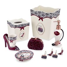 Add A Y Touch To Your Bathroom With This Bath Ensemble Collection Shaped Like Shoes