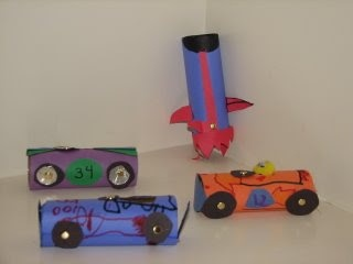 Some fun transport crafts, could use caps and straws for working tyres