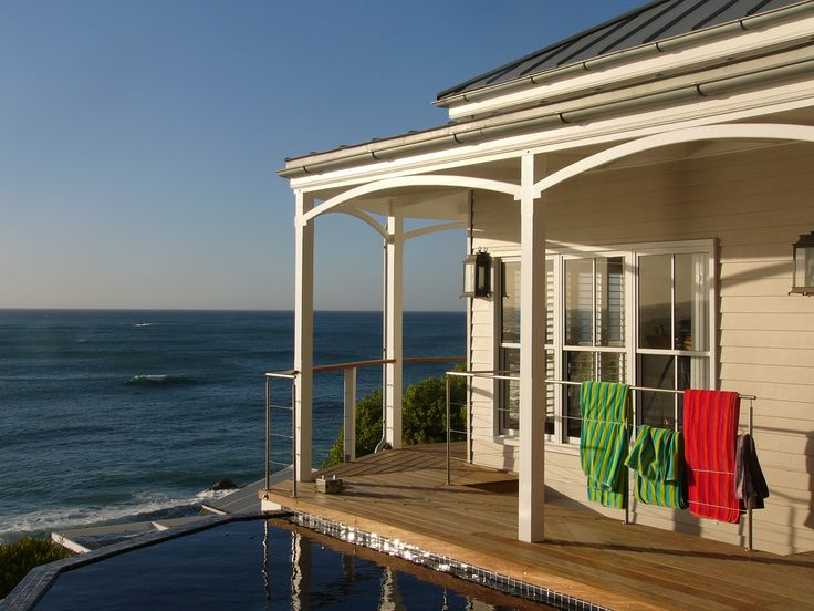 This the view over the pool from the Clifton bungalow