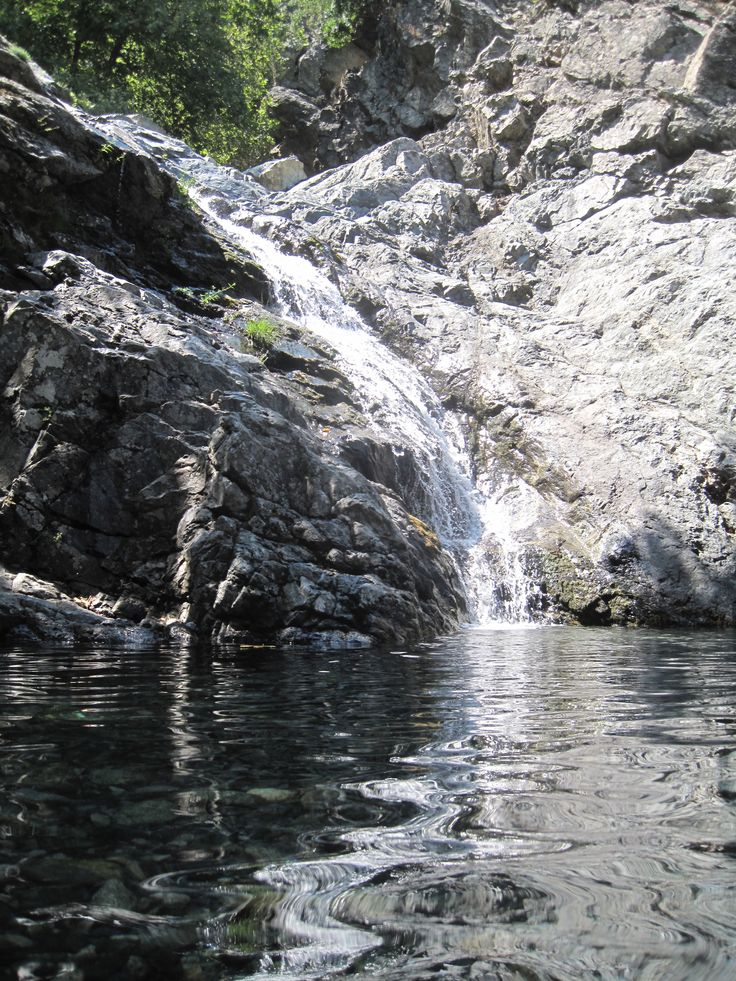 One of my favourite islands in Greece: Samothraki. Swimming under waterfalls