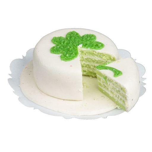 Sliced Shamrock Cake