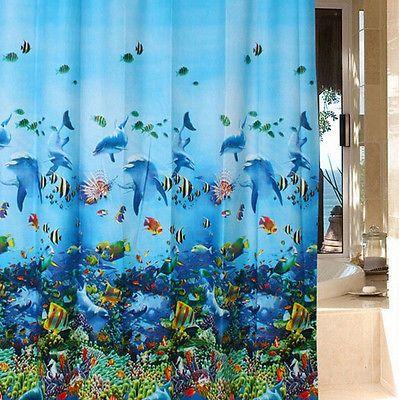 NEW Ocean Sea Life Curtain Waterproof Shower Bathroom 180X180cm With Hooks Ring https://t.co/5mJ3tJYU5D https://t.co/i3UXAZRRe8