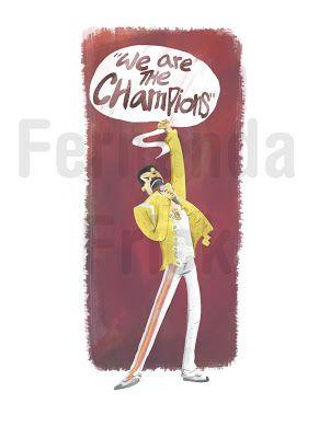 Freddie Mercury by Fernanda Frick