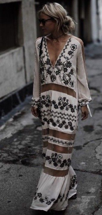 #summer #boho #chic #style | Paneled Maxi Dress
