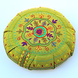 Barefoot Yoga  Mandala Embroidered Zafus | Barefoot Yoga Co.