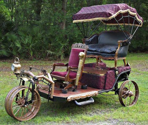 Google+ The Airship Diamler - A Steampunk Vehicle