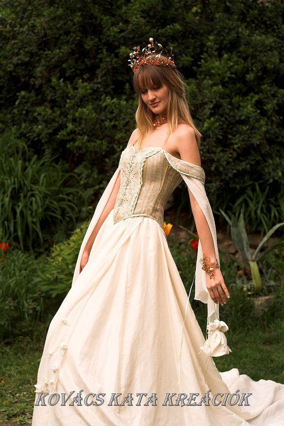 Alternative Wedding Dresses Bristol : Medieval renaissance style alternative corset wedding gown