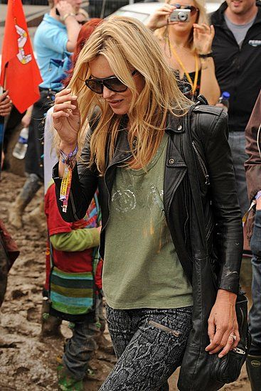 Kate Moss Pops In at Glastonbury, Pre-Wedding