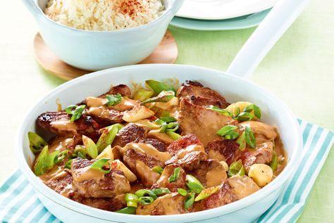 Rahmgeschnetzeltes mit Reis Rezept