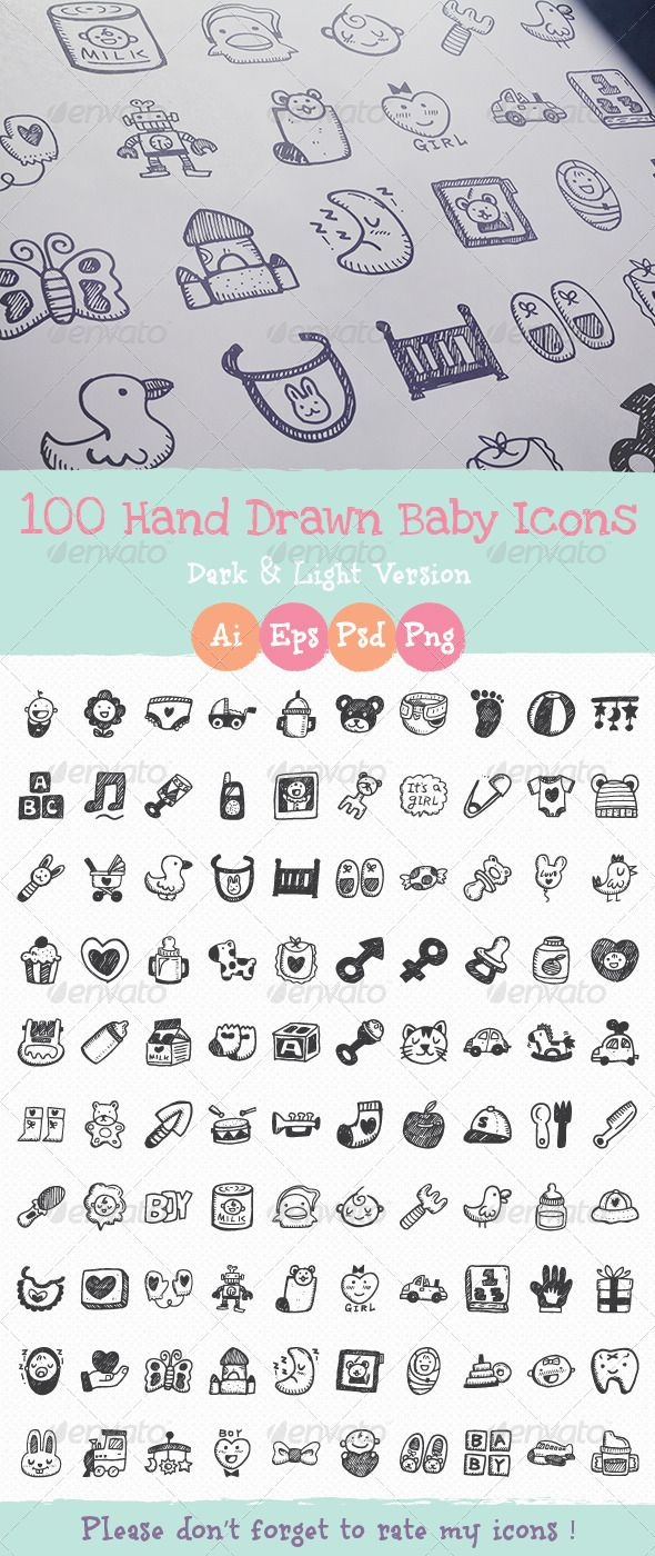 Hand+Drawn+Baby+Icons