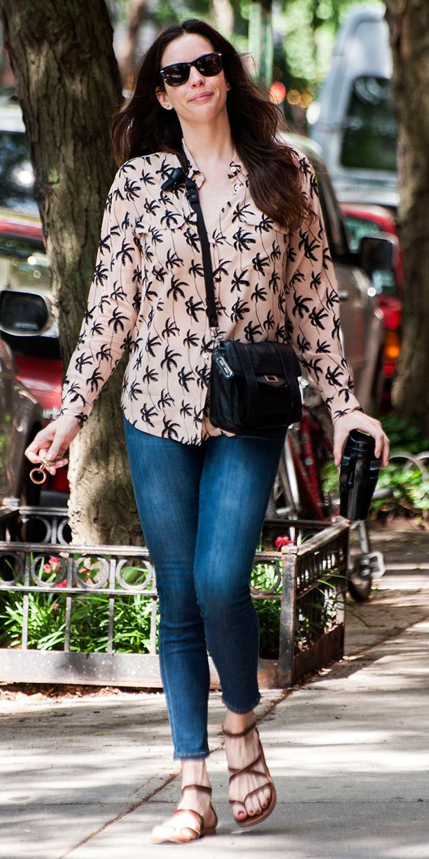 Liv Tyler brought the tropical vibes to the city this weekend // #CelebrityStyle