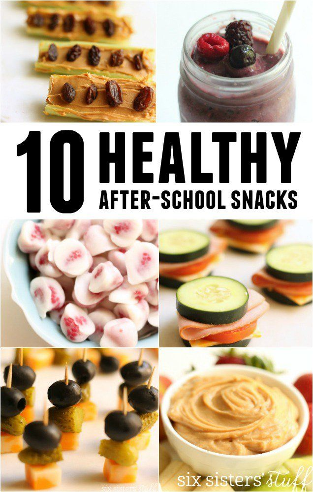 10 Healthy After-School Snacks on SixSistersStuff.com | 10 great low-calorie, quick and easy ideas for after school snacks that your kids will love!
