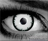 Piercing white eyes of immortals & higher dimensional beings from other realms. Angelic white special effects contacts are of Gods, Angels, Ghosts & Aliens.