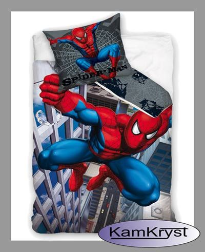 Bedding with Spiderman - Spiderman bedding pattern Block 160x200 | Pościel ze SpiderManem - wzór pościeli Spiderman Block 160x200 #spider_man_bedding #spiderman_bedding #spiderman