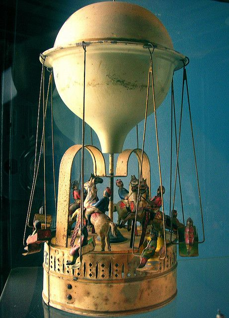 "Victorian Era Toy Hot Air Balloon.    This and that horse r,acing game in the movie ""Dave"""