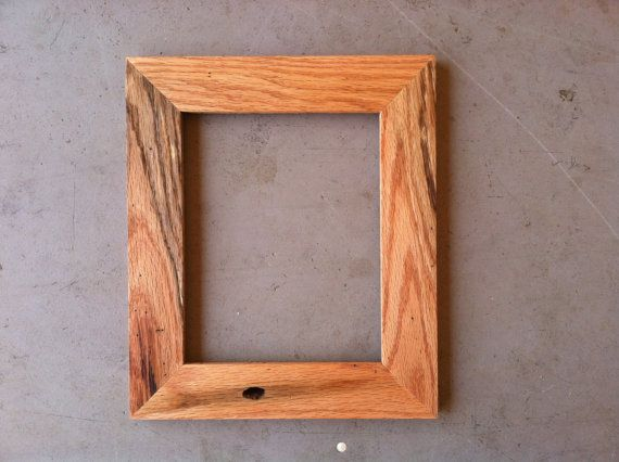 8x10 oak picture frame by jonesframing on etsy