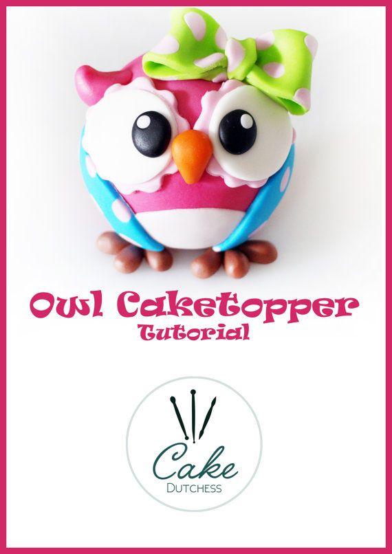 Owl Caketopper Tutorial van CakeDutchess op Etsy