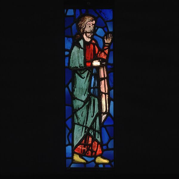 Panel  Place of origin: France (probably, made)  Date: ca. 1250 (made)  Artist/Maker: Unknown (production)  Materials and Techniques: Glass with painted details  Credit Line: Purchased with the assistance of The Art Fund