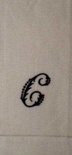 Linen Monogrammed letter C Table Napkin by GrandpaGrandmasAttic, $10.00