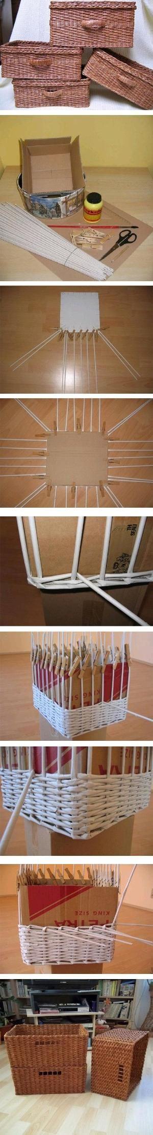 DIY Newspaper Weave Basket by aline