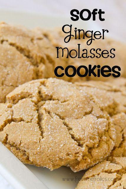 Soft Ginger Molasses Cookies Recipe via Free Time Frolics #recipe #molasses #cookies