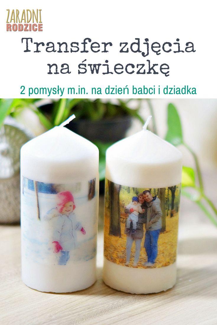 Transfer zdjęcia na świeczkę. Bardzo szybki i fajny pomysł na prezent na dzień dziadka i babci czy walentynki.:)