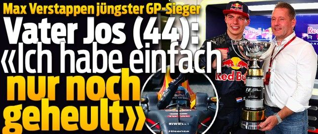 Der GP von Spanien 2016 geht in die Formel-1-Geschichte ein: *** Max Verstappen ist der erste holländische Grand-Prix-Sieger in 939 Rennen. Und mit 18 Jahren, neun Monaten und 15 Tagen auch der jüngste !! 15-Mai-2016