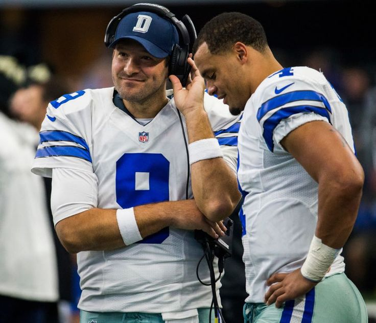 Legendary Tony with rising star rookie; both making America's Team great again. Tony, I see how you are still making those plays, even on the side lines. Dak, I see your confidence, stamina, and maturity even though this is your first year in the NFL, 'The Big League'   I love how you both are staying focused and humble in the midst of all this drama. You guys have class, heart, and a sense of family, not  just players. That's what truly makes you all special. God Bless you and all of the…